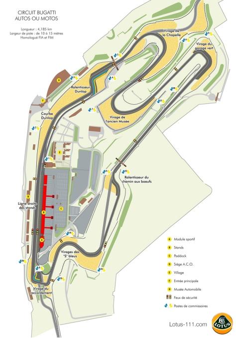 Plan Circuit Bugatti - Le Mans